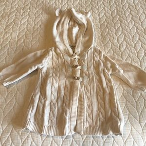 Cherokee Baby Hooded Cable Knit Cardigan Sweater